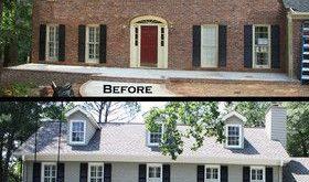 Exterior Porch B&A - traditional - before photos - atlanta - Green Basements & R...