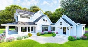 Plan 70603MK: Dreamy Modern Farmhouse Plan with Loft Overlooking Great and Dining Rooms