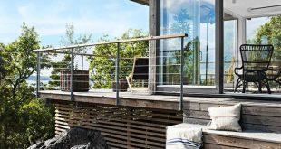 16 charmante skandinavische Veranda-Designs, die Sie draußen halten