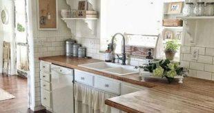 67+ Rural Farmhouse Kitchen Cabinet Makeover Ideas