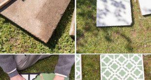 DIY - Betonplatten upcycling für den Garten