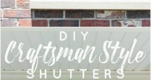 DIY Craftsman Style Outdoor Shutters