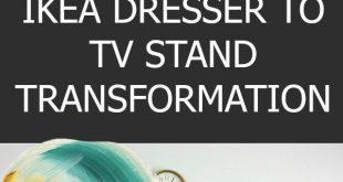 IKEA Dresser to TV Stand Transformation