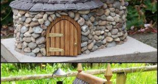Machen Sie ein Miniatur-Feenhaus aus Stein