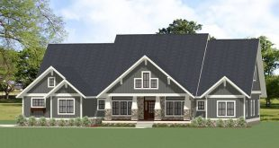 Plan 46309LA: Handsome and Spacious Craftsman House Plan