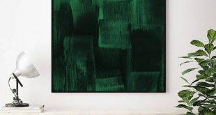 "Quadrat druckbare grüne Malerei. 44 x 44 "". Forest Green Print. Dunkelgrüne Malerei. Zeitgenössischer Druck. Grüne Kunst. Grün bedruckbar"