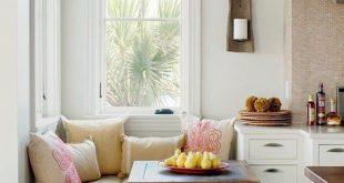 Schicke Sitzecke Küche für kleine Küche in Weiß