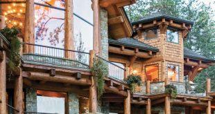 Sie müssen dieses Lakeside Log Home sehen - Log Home Exteriors #dieses #exte...